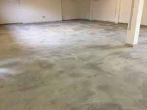 CL3 Floor removed, floor ground clean, and Latex laid_1