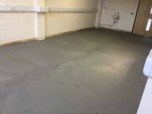 CL2 Floor removed, floor ground clean, and Latex laid_1