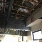 First Fix Fire Detection cable above ceiling