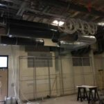 First Fix Supply Ductwork above ceiling