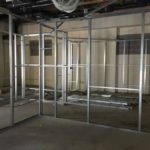 Internal Partition Wall stud work installed