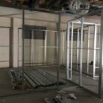Internal Partition Wall stud work installed2