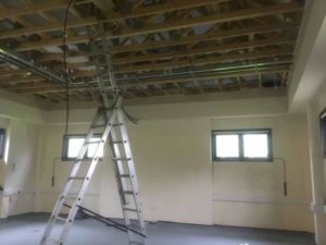 Ceilings removed CAT3