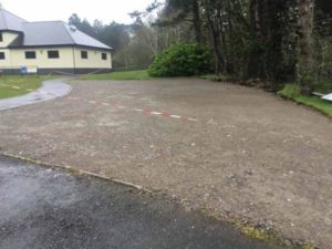 Hard Standing formed for site compound